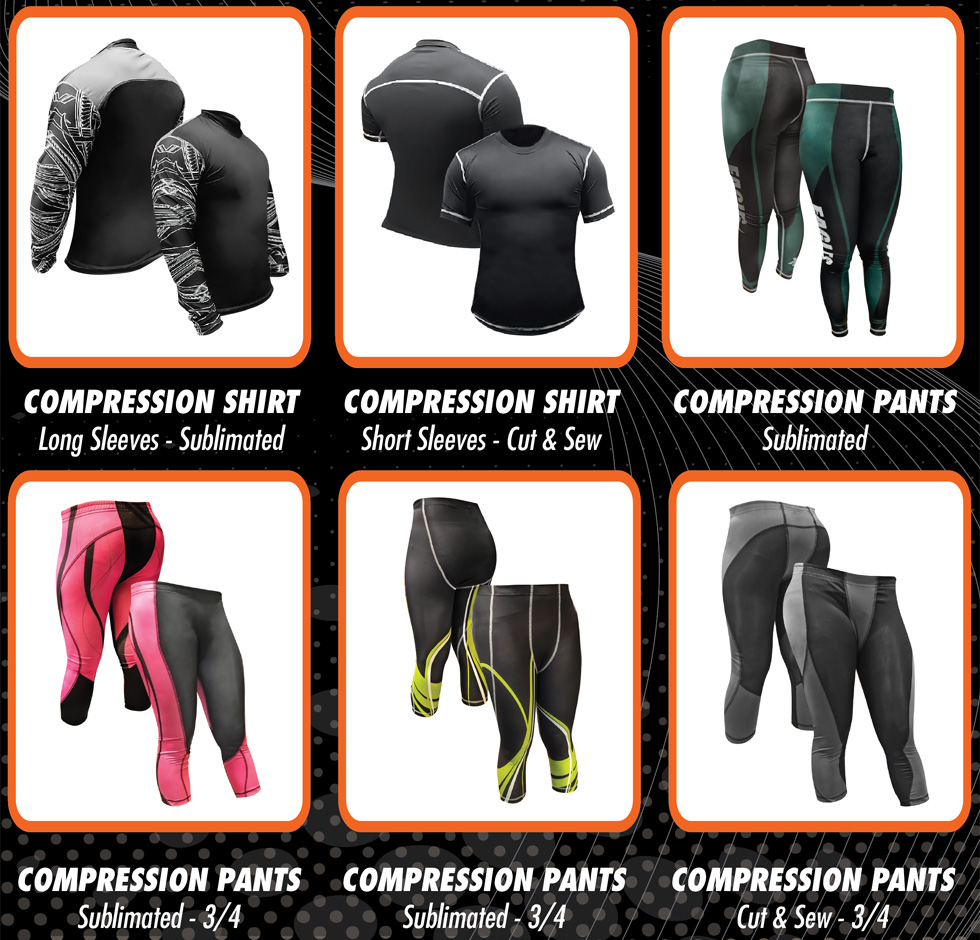 Sublimation Compression Gear