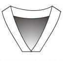 V-Neck Flat Bottom Collar