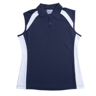 Bocini Ladies Sleeveless Contrast Polo Shirt